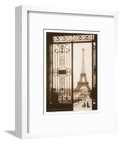 Paris, France - Eiffel Tower (Tour Eiffel) - View from the Trocad?, Palais de Chaillot-Pacifica Island Art-Framed Art Print