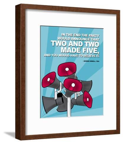 Two and Two Made Five - Nineteen Eighty Four, George Orwell Poster-Chris Rice-Framed Art Print