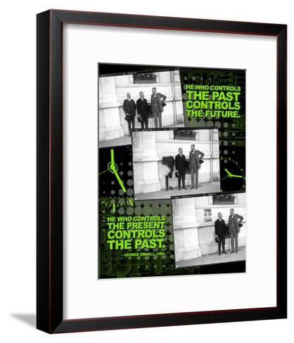 He Who Controls the Past Controls the Future - Nineteen Eighty Four, George Orwell Poster-Chris Rice-Framed Art Print