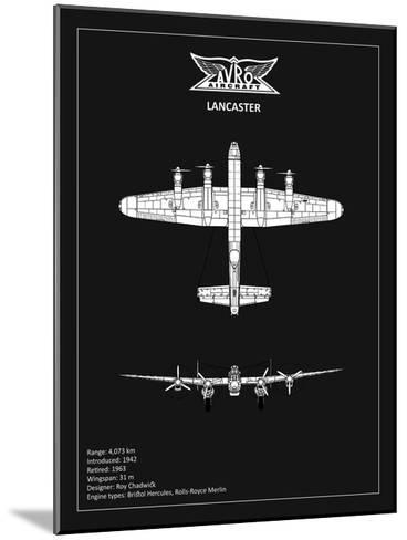 BP Avro Lancaster Black-Mark Rogan-Mounted Giclee Print