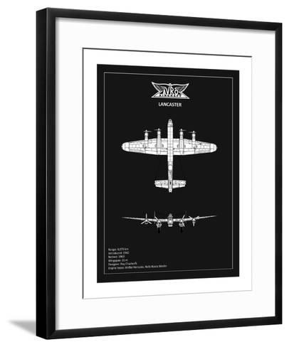 BP Avro Lancaster Black-Mark Rogan-Framed Art Print