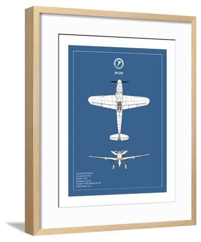 BP Messerschmitt ME 109-Mark Rogan-Framed Art Print