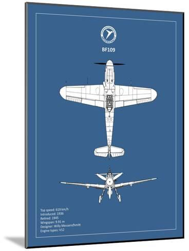 BP Messerschmitt ME 109-Mark Rogan-Mounted Giclee Print