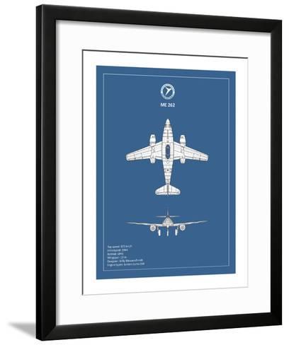BP Messerschmitt ME262-Mark Rogan-Framed Art Print