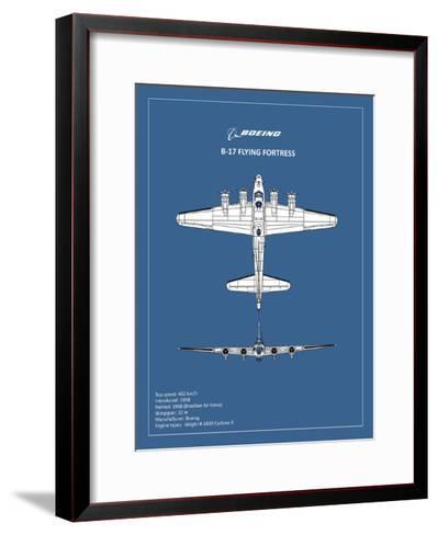 BP B17 FlyingFortress-Mark Rogan-Framed Art Print