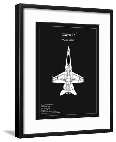 BP FA18 Hornet Black-Mark Rogan-Framed Art Print
