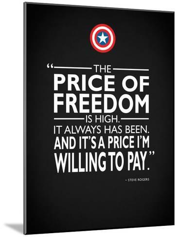 Captain America - Freedom-Mark Rogan-Mounted Giclee Print