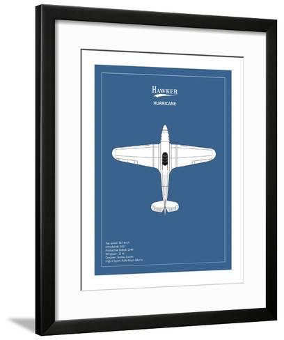 BP Hawker Hurricane-Mark Rogan-Framed Art Print