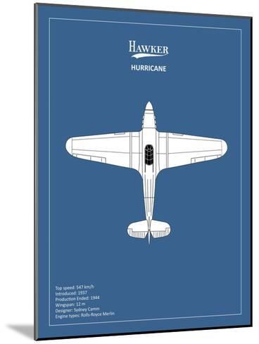 BP Hawker Hurricane-Mark Rogan-Mounted Giclee Print