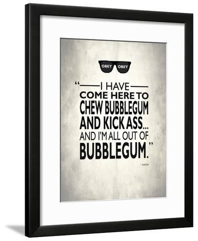 They Live Chew Bubble Gum-Mark Rogan-Framed Art Print