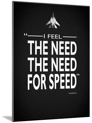 Top Gun The Need For Speed-Mark Rogan-Mounted Giclee Print