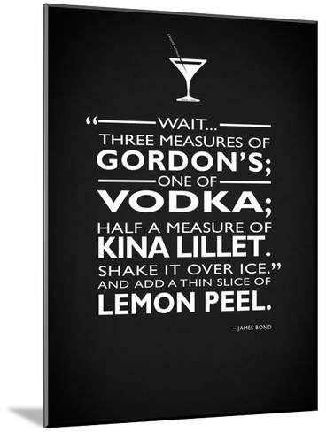 James Bond - 3 Measures-Mark Rogan-Mounted Giclee Print