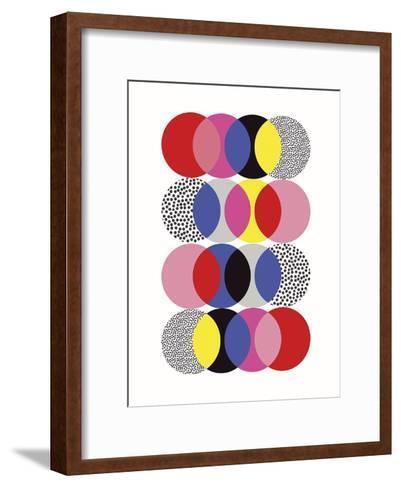 Roulette Tangle-Sophie Ledesma-Framed Art Print
