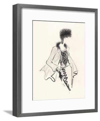 Fur Hat-Jane Hartley-Framed Art Print