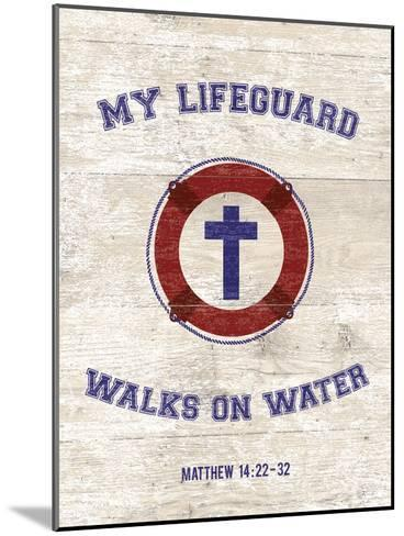 My Lifeguard Walks - Nautical-The Vintage Collection-Mounted Giclee Print