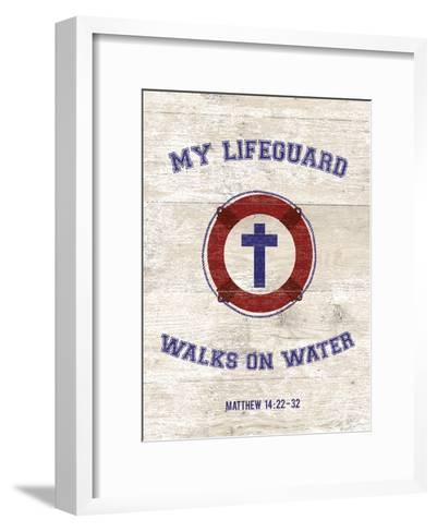 My Lifeguard Walks - Nautical-The Vintage Collection-Framed Art Print