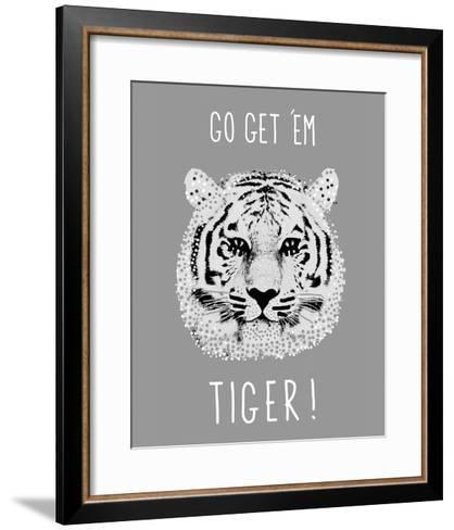 Go Get 'em Tiger!-Emilie Ramon-Framed Art Print