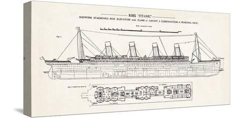 RMS Titanic-The Vintage Collection-Stretched Canvas Print