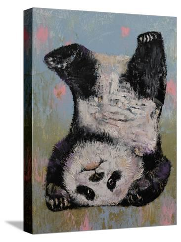 Panda Headstand-Michael Creese-Stretched Canvas Print