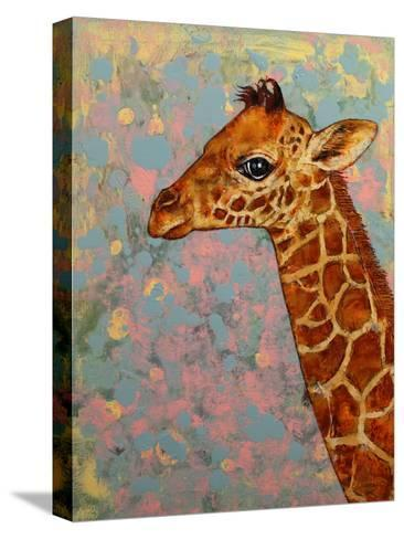 Baby Giraffe-Michael Creese-Stretched Canvas Print