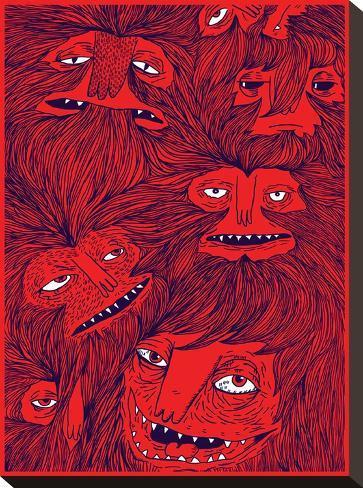 Hairwolves-Joe Van Wetering-Stretched Canvas Print