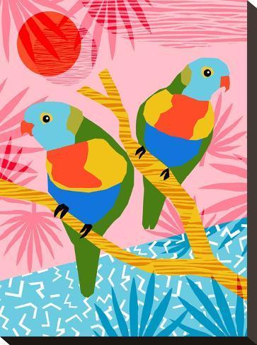 Besties-Wacka Designs-Stretched Canvas Print