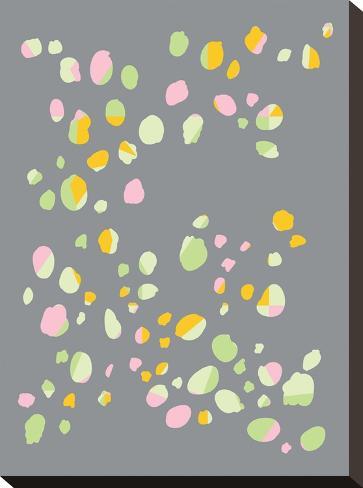 Geo Confetti-Ashlee Rae-Stretched Canvas Print
