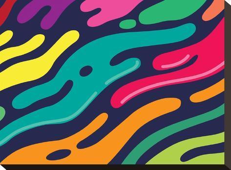 Liquid-Joe Van Wetering-Stretched Canvas Print