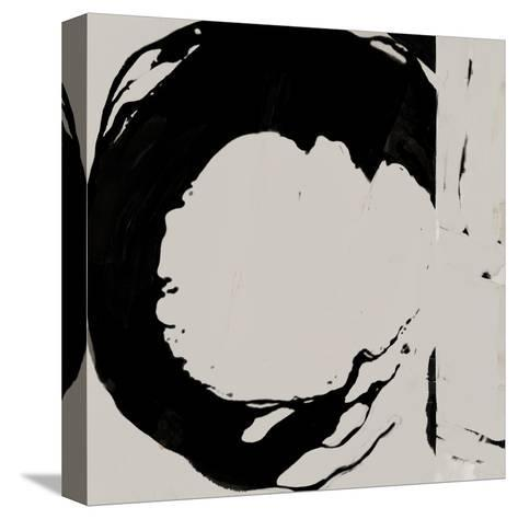 Black And Taupe Abstract 4-Kasi Minami-Stretched Canvas Print