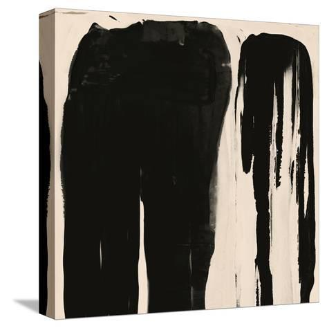 Black And Taupe Abstract 5-Kasi Minami-Stretched Canvas Print