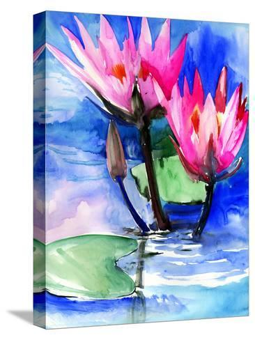 Lotuses 3-Suren Nersisyan-Stretched Canvas Print