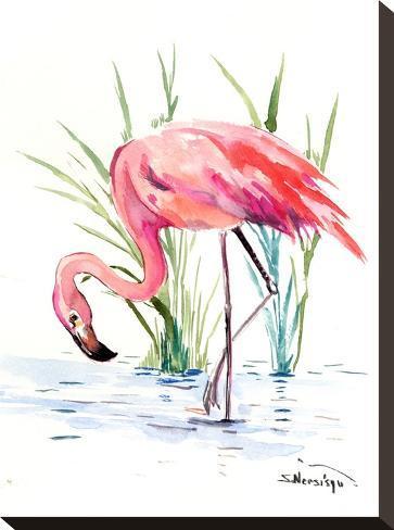 Flamingo 4-Suren Nersisyan-Stretched Canvas Print