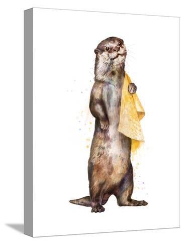 Otter-Laura Graves-Stretched Canvas Print