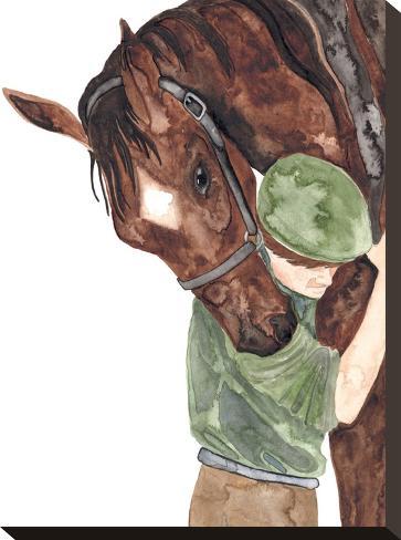 Mans Best Friend-Elena O'Neill-Stretched Canvas Print