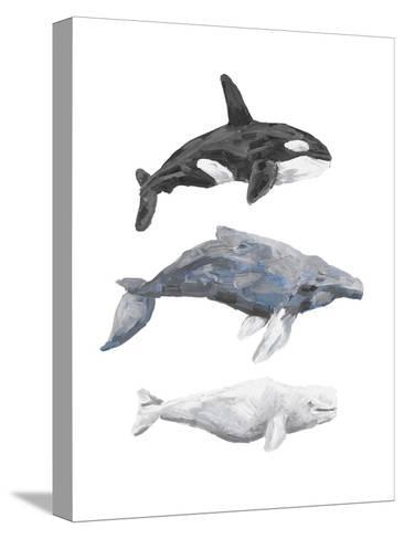 Whale Painting Trio 1-Jetty Printables-Stretched Canvas Print