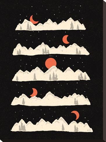 Moon Rises Moon Sets-NDTank-Stretched Canvas Print
