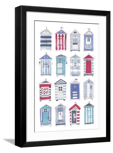 Beach Hut Splendor-Sandra Jacobs-Framed Art Print