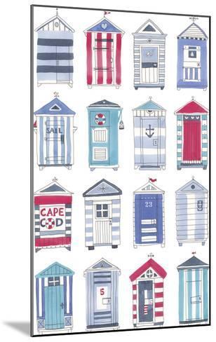 Beach Hut Splendor-Sandra Jacobs-Mounted Giclee Print