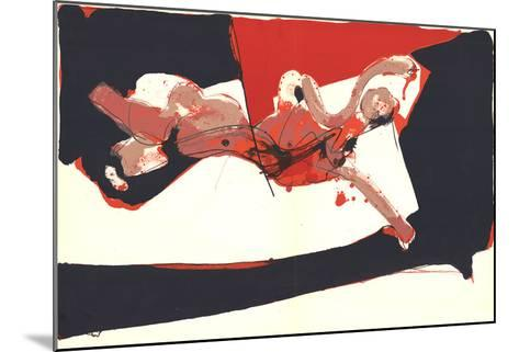 Abstracted Female Figure-Paul Rebeyrolle-Mounted Art Print
