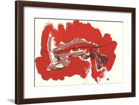 Irregular Forms on red-Paul Rebeyrolle-Framed Art Print