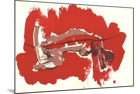 Irregular Forms on red-Paul Rebeyrolle-Mounted Art Print