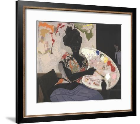 Untitled (2009)-Kerry James Marshall-Framed Art Print