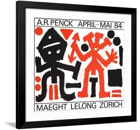 Maeght Lelong Zurich-A^R^ Penck-Framed Art Print