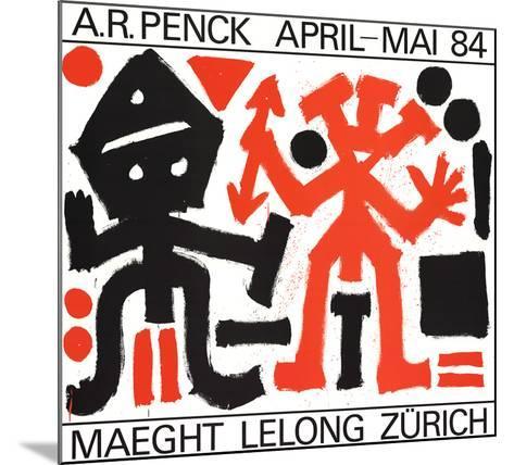 Maeght Lelong Zurich-A^R^ Penck-Mounted Art Print