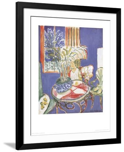 Petit Interieur Bleu (no text)-Henri Matisse-Framed Art Print