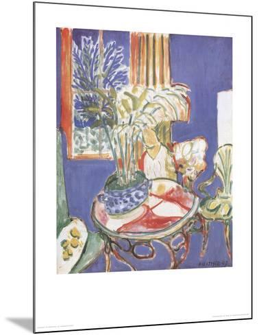 Petit Interieur Bleu (no text)-Henri Matisse-Mounted Art Print