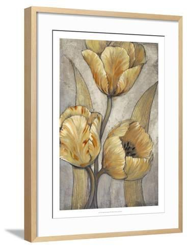 Ochre & Grey Tulips I-Tim O'toole-Framed Art Print