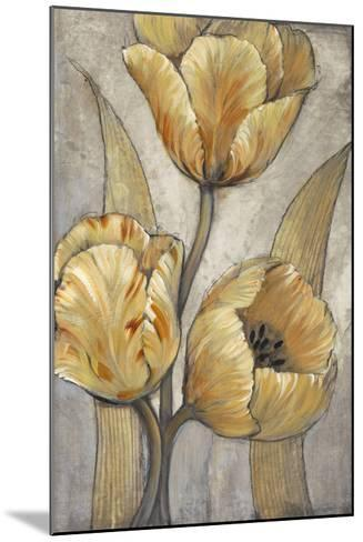Ochre & Grey Tulips I-Tim O'toole-Mounted Art Print