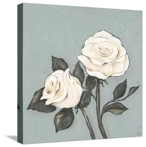 Two Tan Roses-Jade Reynolds-Stretched Canvas Print