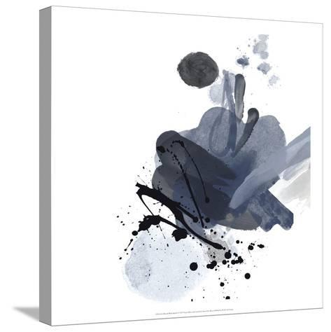 Blue & Black Splash I-Irena Orlov-Stretched Canvas Print